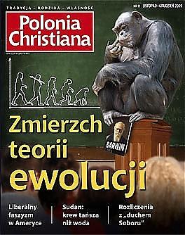 Okładka Polonia Christiana nr 11. Kres teorii ewolucji?